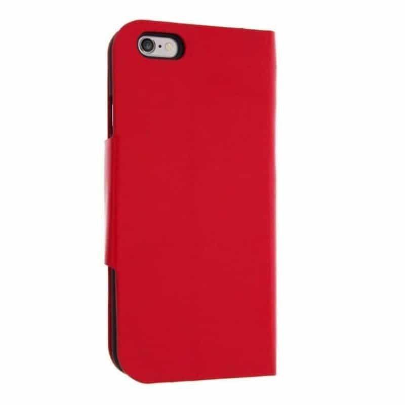 Housse etui rabattable folio rouge iphone 6 plus for Housse iphone 6 plus