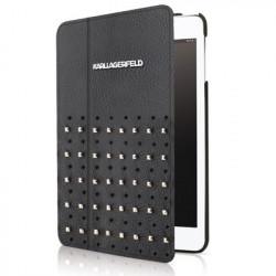 Etui Folio Noir Clouté Licence Karl Lagerfeld pour IPad Air