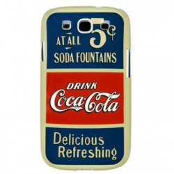 "Coque originale Coca Cola pour Samsung Galaxy S3 ""Old 5 Cents"""