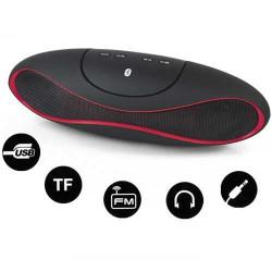 Haut parleurs ALIEN bluetooth noir et rouge pour telephones