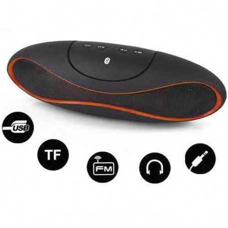 Haut parleurs ALIEN bluetooth noir et orange pour telephones