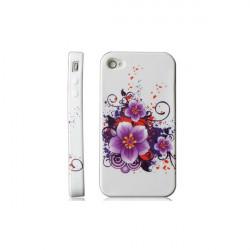 """Coque beauty """" violettes"""" pour Iphone 4 et 4S"""