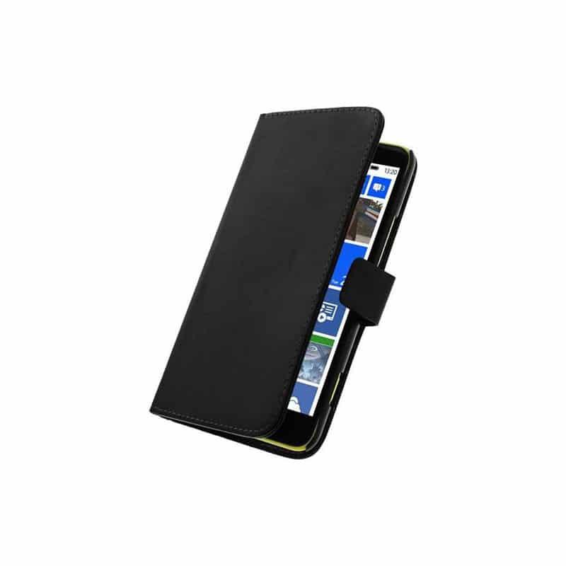 etui portefeuille rabattable noir pour nokia lumia 635