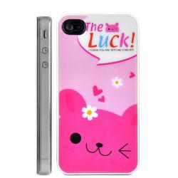 Coque OURSON rose pour Iphone 4 et 4S