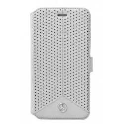 HOUSSE ETUI FOLIO MERCEDES GRIS PIQUE iPhone 6/6S
