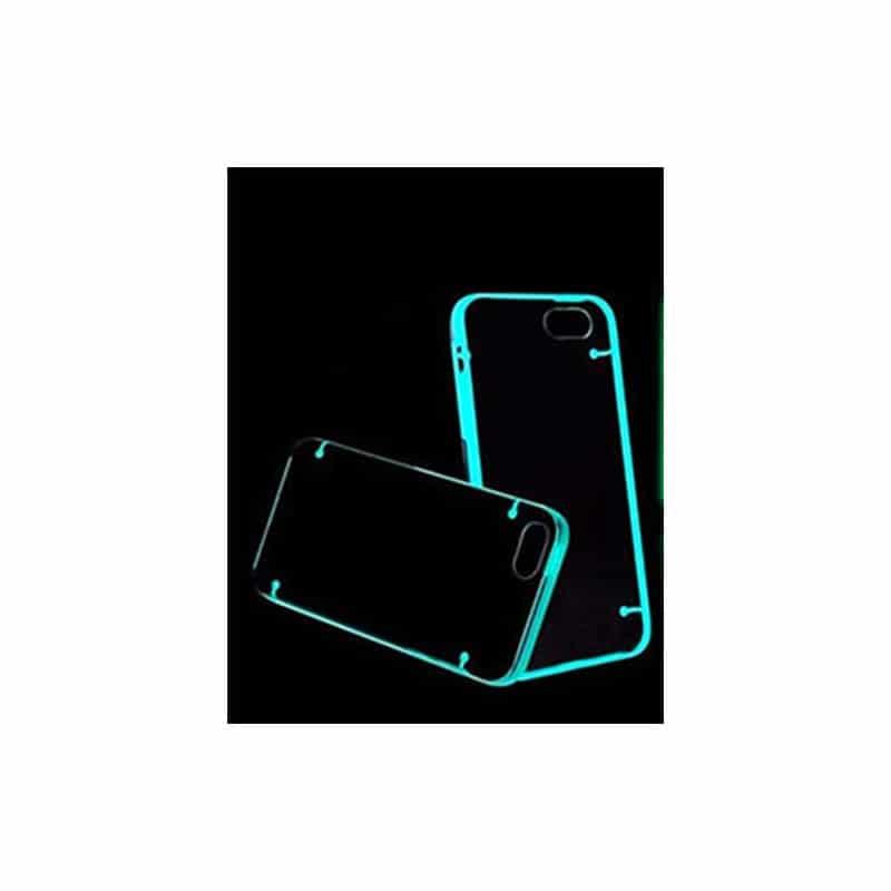 Coque phosphorescente bord bleu pour iPhone 5 5S SE