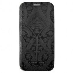 Etui cuir Folio noir Christian Lacroix pour Samsung Galaxy S6