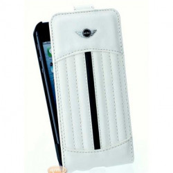 Housse Etui Folio MINI blanc iPhone 5,5S, SE