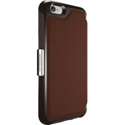 Coque cuir STRADA SERIE marron pour iPhone 6 et iPhone 6S