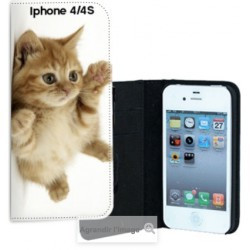Etui cuir personnalisé pour iPhone 4 et 4S