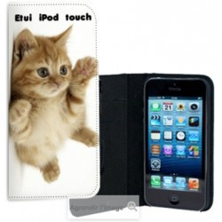 Etui cuir personnalisé pour iPod TOUCH 5