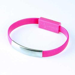 Câble BRACELET rose USB LIGHTNING
