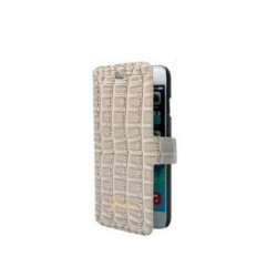 HOUSSE ETUI FOLIO CROCO BEIGE IPHONE 6 Plus et 6 plus S