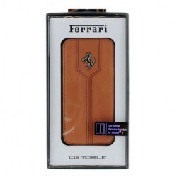 HOUSSE ETUI FOLIO IPHONE 5/5S FERRARI MARRON