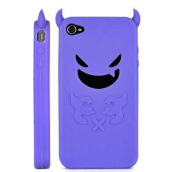 Coque DEVIL de couleur mauve pour Iphone 4