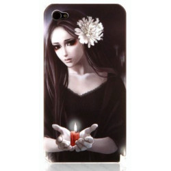"""Coque beauty """" Bougie """" pour Iphone 4"""