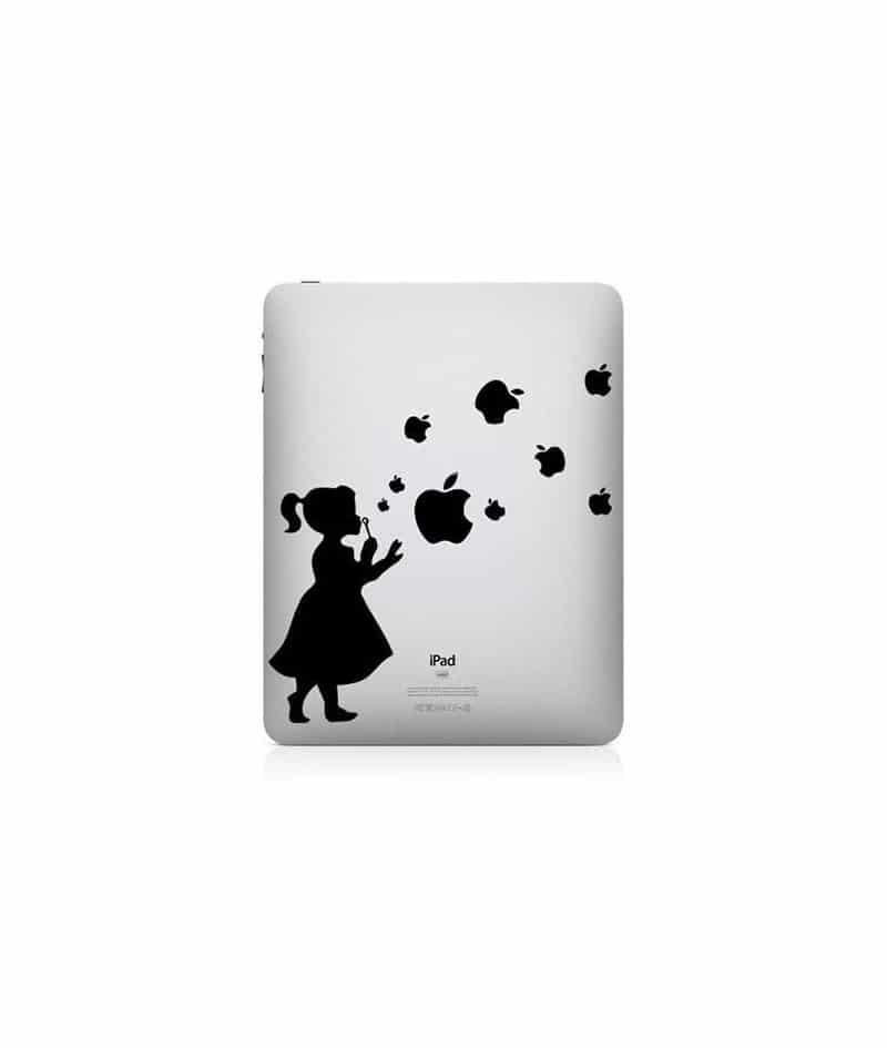 Stickers petite fille pour ipad et macbook - Stickers petite fille ...