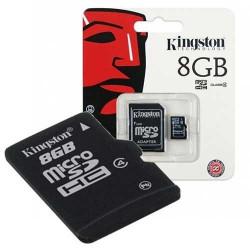 KINGSTON Carte mémoire micro SD 8 Go Classe 4 Garantie a vie