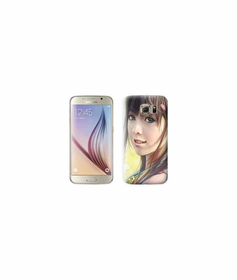 Coque fille manga pour Samsung Galaxy S7