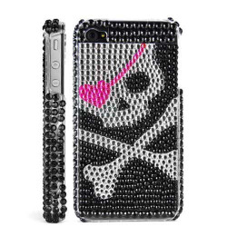 """Coque Diamond """" Skull """" pour Iphone 4 et 4S"""