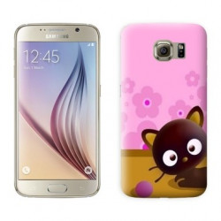 Coque CRAZY CAT pour Samsung Galaxy S7 EDGE