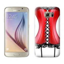 Coque CORSET ROUGE pour Samsung Galaxy S7 EDGE