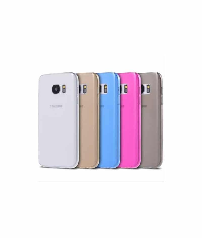 Coque silicone CRYSTAL rose pour samsung galaxy S7 EDGE