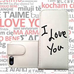 ETUI CUIR I LOVE YOU POUR IPOD TOUCH 6