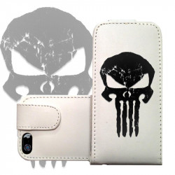ETUI CUIR BLACK SKULL POUR IPOD TOUCH 6