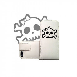 ETUI CUIR FUNNY SKULL POUR IPOD TOUCH 6