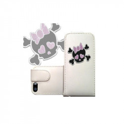 ETUI CUIR FUNNY SKULL 2 POUR IPOD TOUCH 6