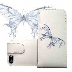 ETUI CUIR WATER BUTTERFLY POUR IPOD TOUCH 6