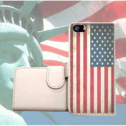 ETUI CUIR PORTEFEUILLE USA POUR IPOD TOUCH 6