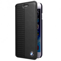 HOUSSE ETUI FOLIO NOIR BMW pour iPhone 6 et 6S