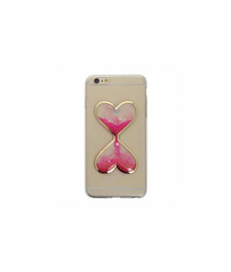 coque sablier paillete rose pour iphone 6 et iphone 6s. Black Bedroom Furniture Sets. Home Design Ideas