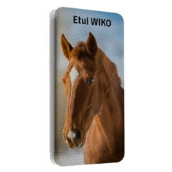 Etuis Cuir PERSONNALISES pour WIKO SELFY 4G