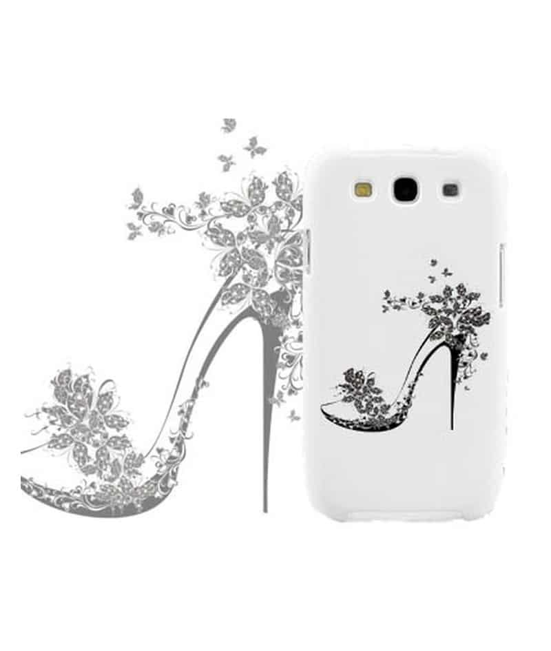 coque talon aiguille noir fleuri pour samsung galaxy grand. Black Bedroom Furniture Sets. Home Design Ideas