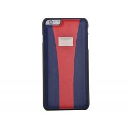 Coque cuir originale bleu fonce et rouge ASTON MARTIN pour iPhone 6 et iPhone 6S