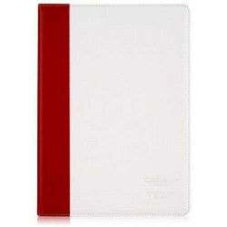 Etui cuir originale blanche et rouge ASTON MARTIN pour iPad air et iPad air 2
