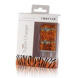 MINI Chargeur FOREVER LEOPARD 220 volts pour téléphones, tablettes ou lecteurs MP3