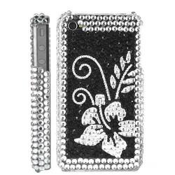 """Coque Diamond """" Flower """" pour Iphone 4 et 4S"""