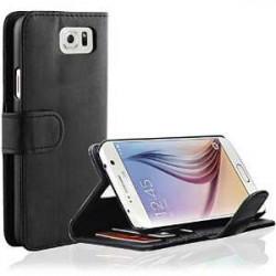 Etui cuir portefeuille noir pour SAMSUNG GALAXY S7 Edge