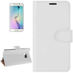 Etui cuir portefeuille blanc pour SAMSUNG GALAXY S7