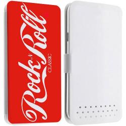 Etui portefeuille Cuir ROCK N ROLL 2 pour les telephones SAMSUNG