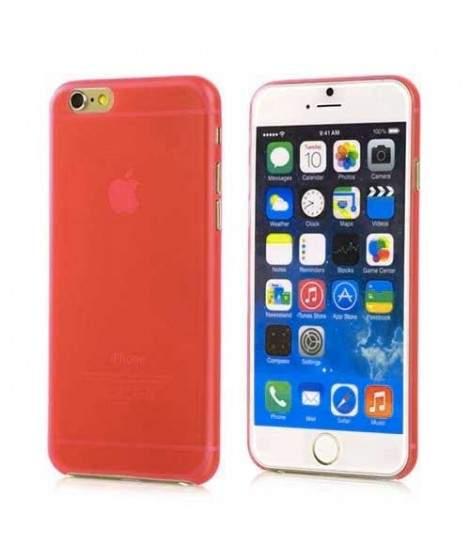 coque iphone 7 rouge transparent