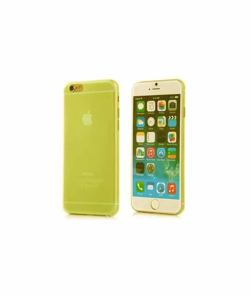 coque iphone 7 jaune mat
