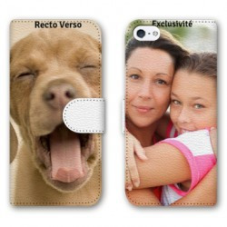 Etui cuir RECTO VERSO personnalisé pour iPhone 7