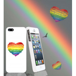 Coque RAINBOW HEART pour iPhone 7