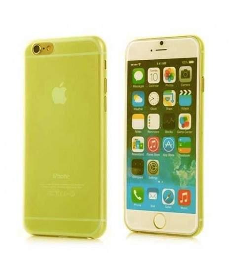 coque crystal transparente jaune pour iphone 7 plus