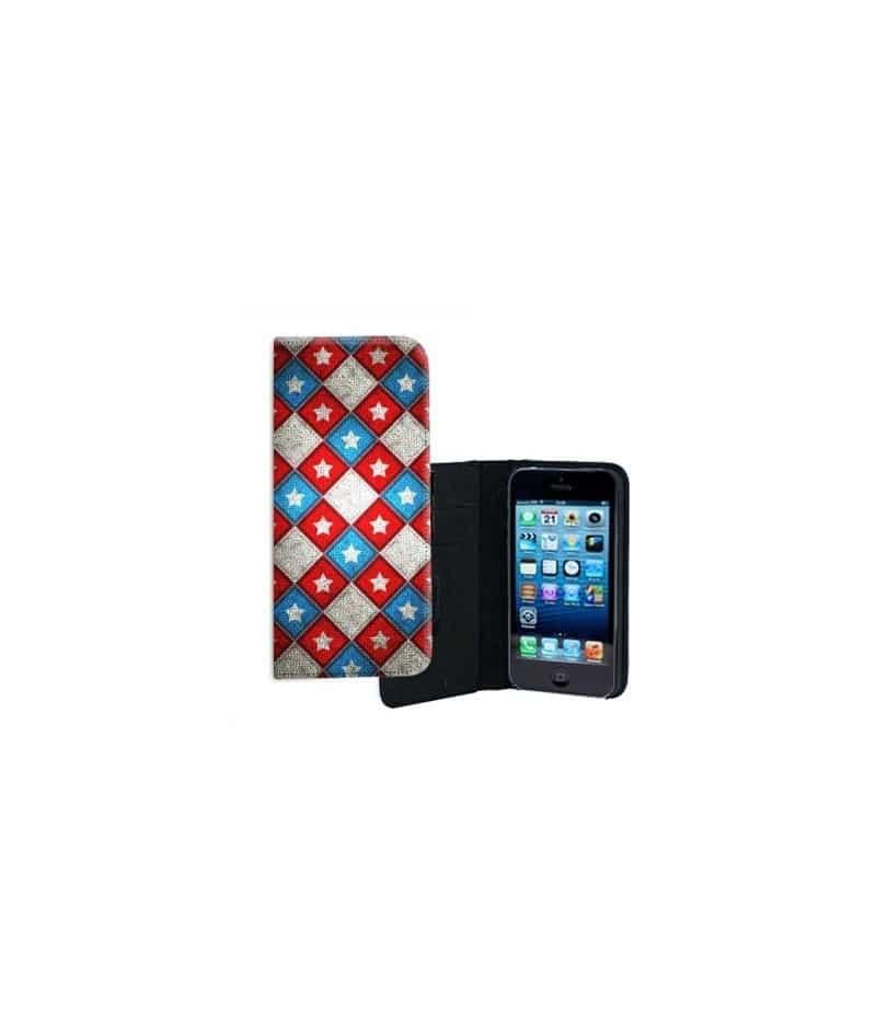etui rabattable croix pour iphone 5 5s. Black Bedroom Furniture Sets. Home Design Ideas